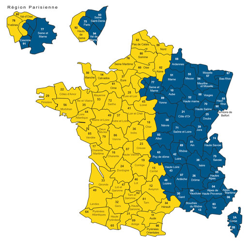 carte des contacts